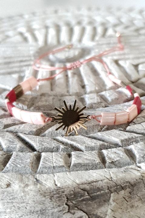 Bracelet Perles de Verre Japonaises - Corail
