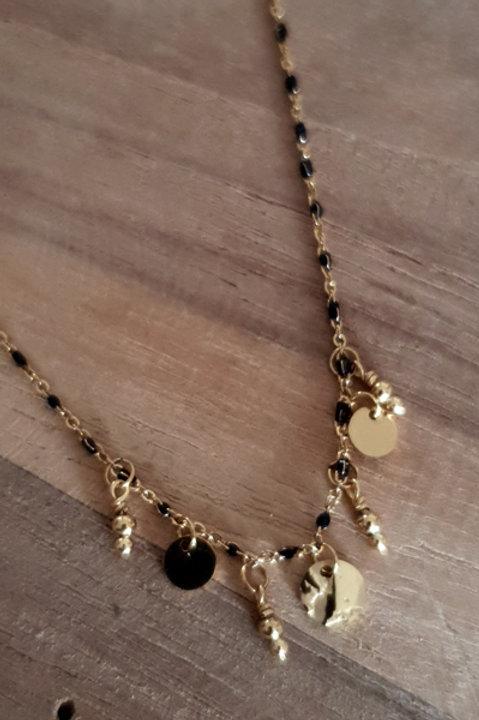 Collier Ras de Cou Summer N.1 - Black Gold