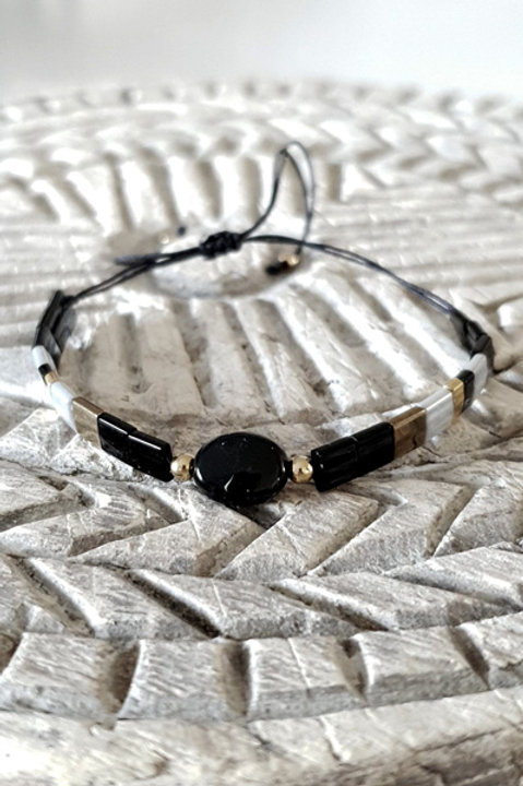 Bracelet Perles de Verre Japonaises - Perle Black