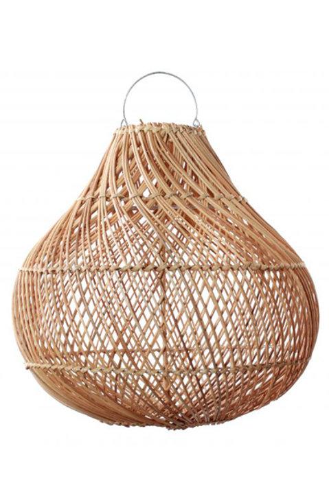 Lampe Osier Naturel Forme Boule - XL