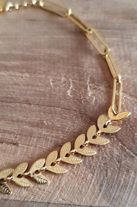 Bracelet Petites Feuilles Gold