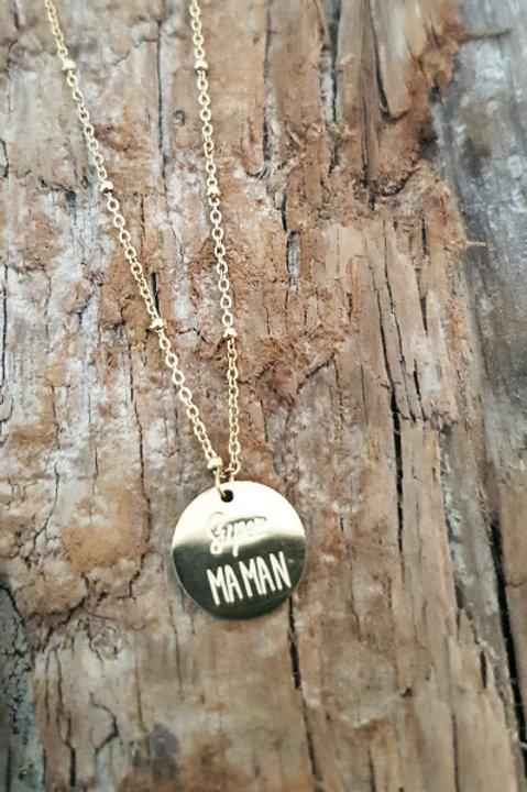 Collier Médaille - Super Maman