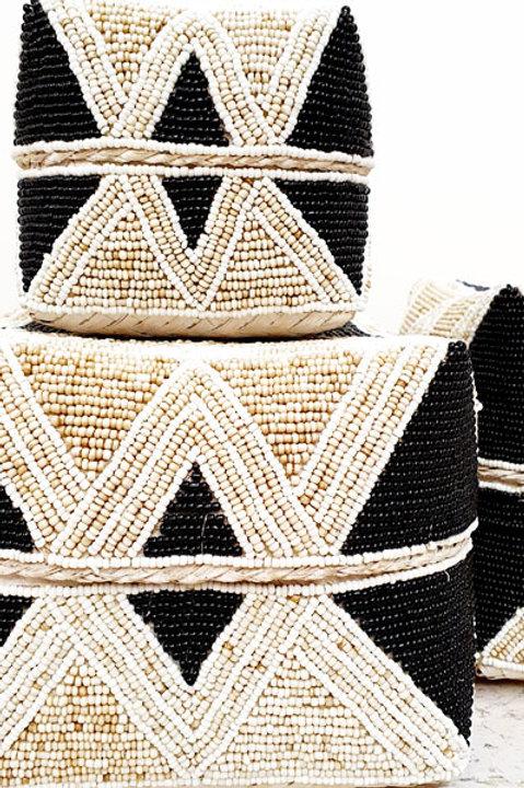 Boite Perles - Noir Ecru - XS