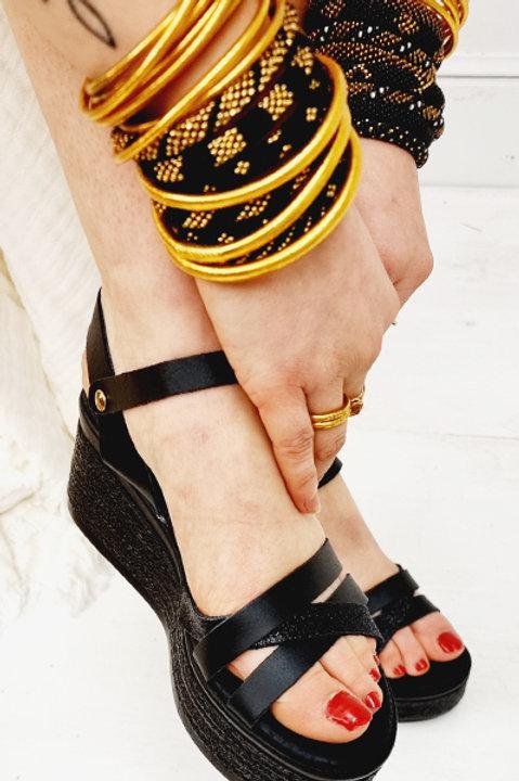 Sandale Cuir Compensée Psarroy