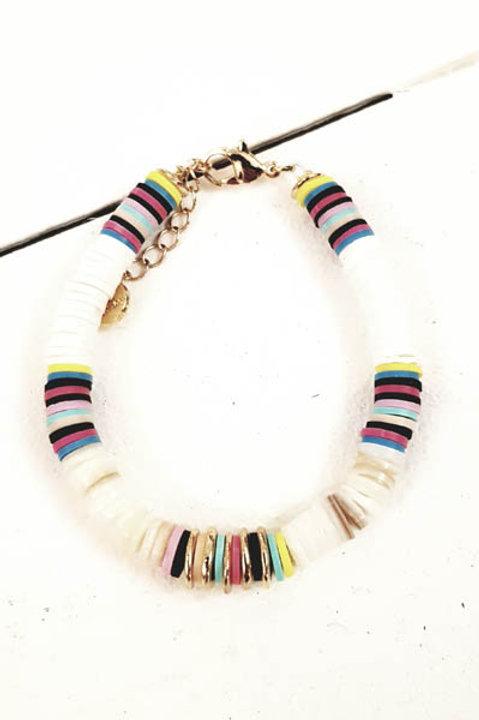 Bracelet Massai White