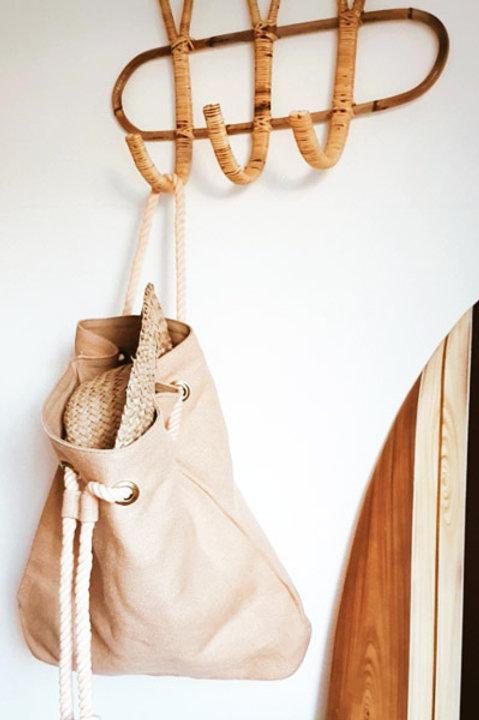 Cabas Forme Bourse Coton - Nude