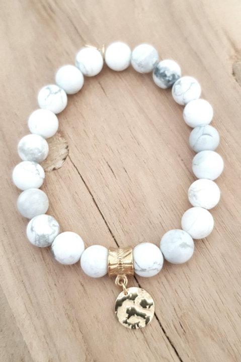 Bracelet Perles de Pierre Sun - Howlite