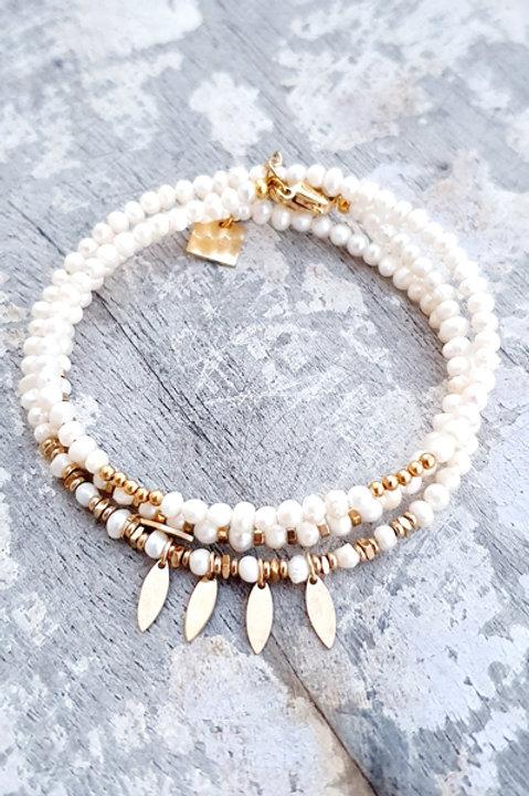 Bracelet Multi Tour - Perles de Culture - N.1