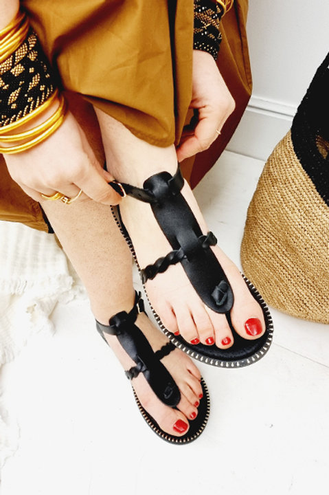 Sandale Cuir Ornos Black