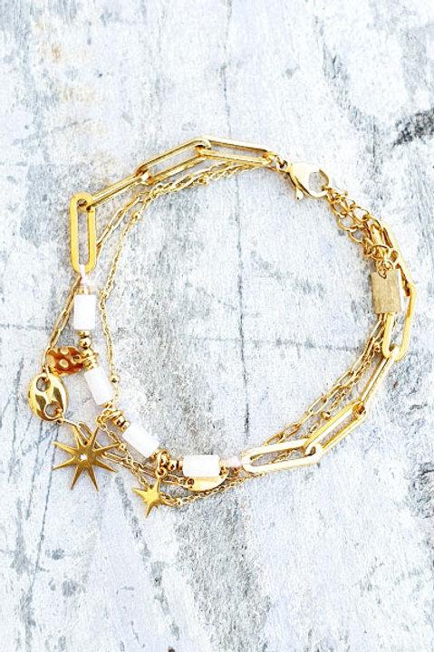 Bracelet Multi - Etoile - White