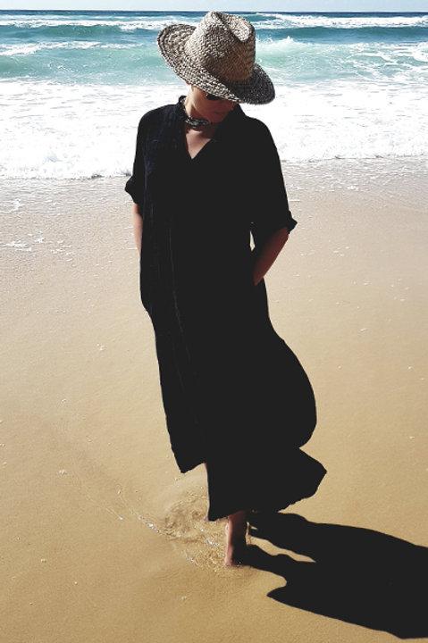 Robe Longue Sahara Lin Noir