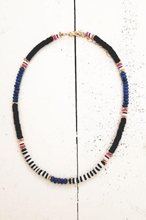 Collier Perles Heishi Marine