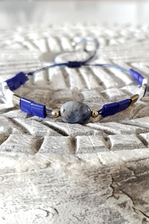 Bracelet Perles de Verre Japonaises - Perle Navy