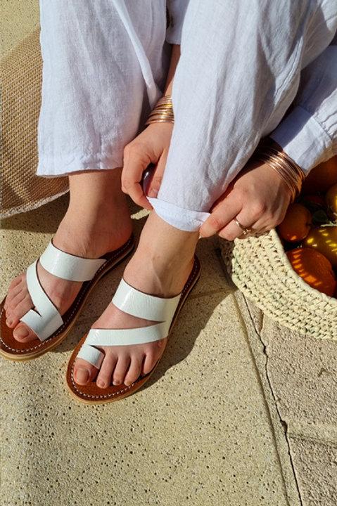 Sandale Cuir Minori Blanc