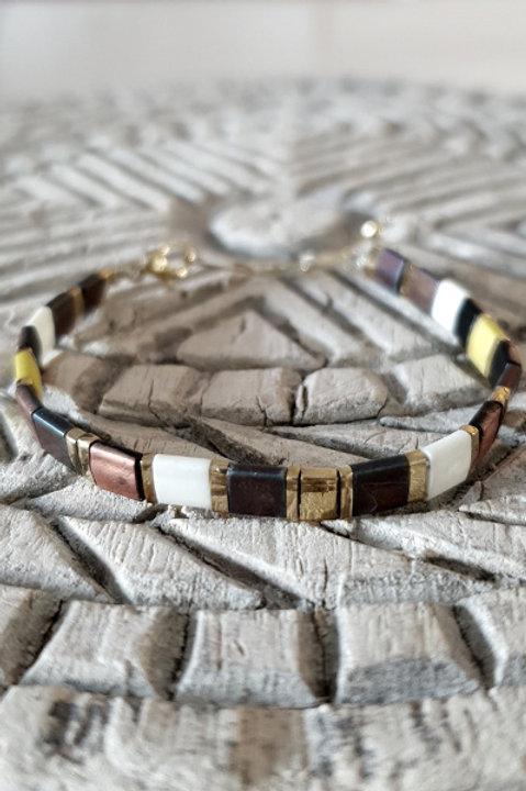 Bracelet Perles de Verre Japonaises - N10