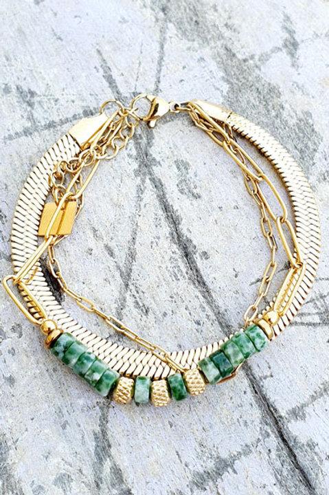 Bracelet Trio - Gold - N.6
