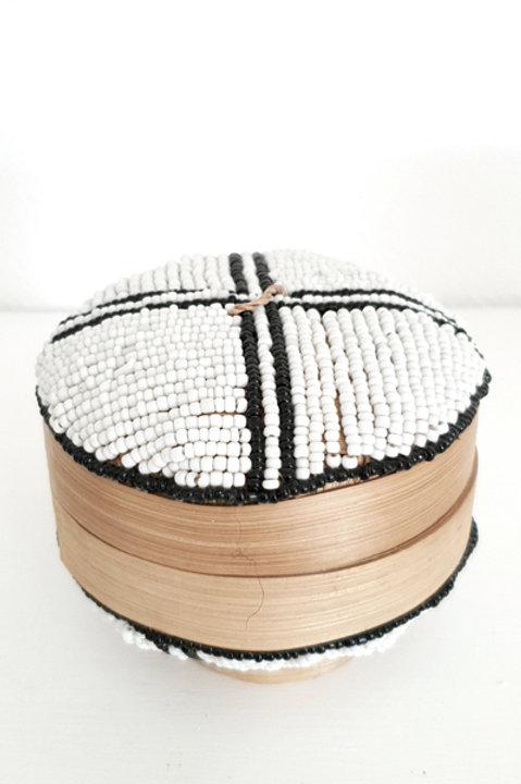 Boite Perles Ronde - White