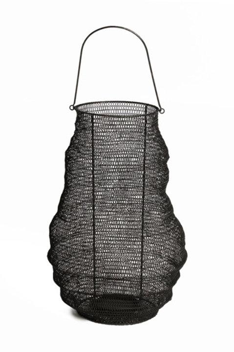 Lanterne Gaze Métal Black
