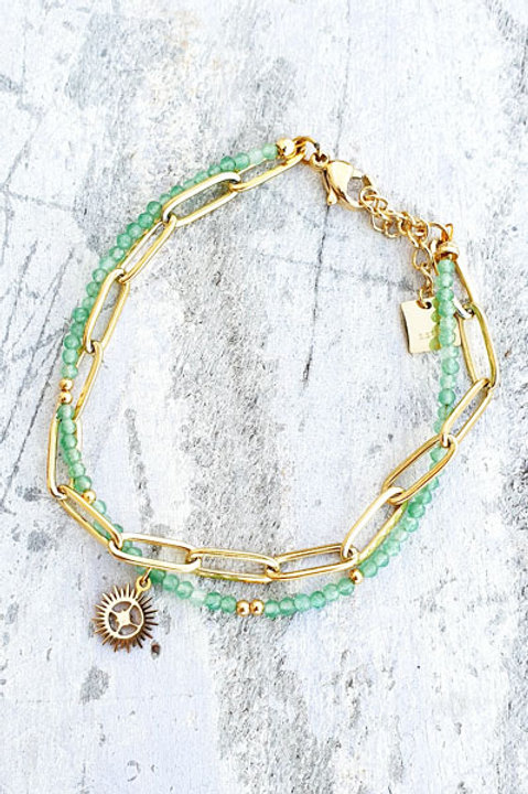 Bracelet Duo - Gold Aventurine - N.3