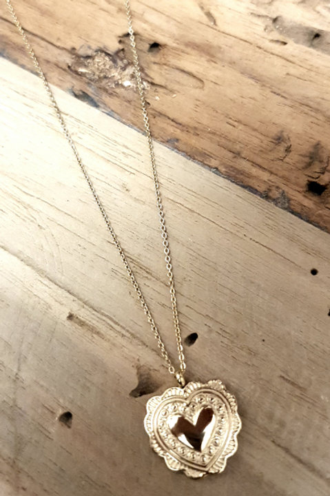 Collier Coeur Gold