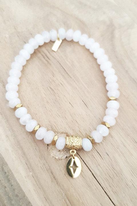 Bracelet Perles de Pierre - Agathe Blanche