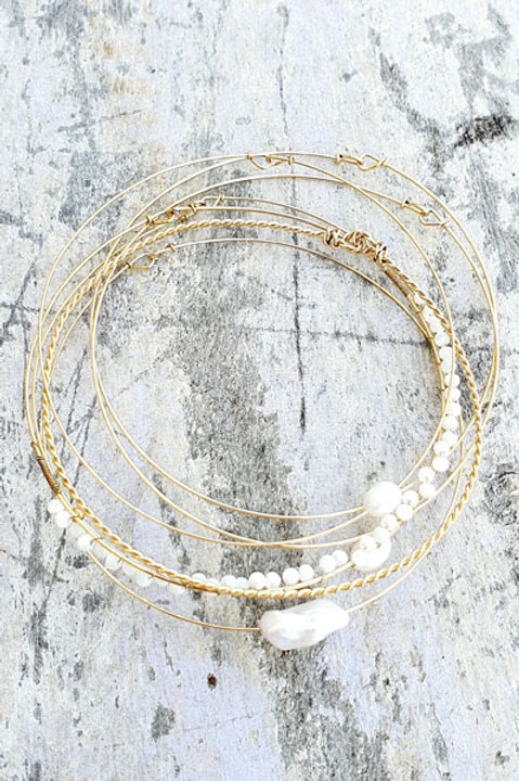Semainier Gold Jonc - Perles