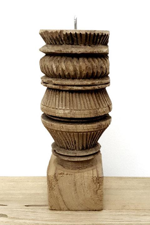 Bougeoir Bois Sculpté S - N.1