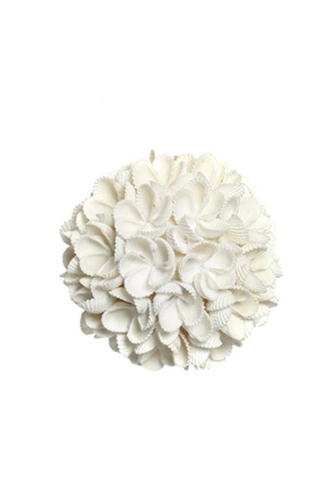 Boule Coquillage Flower Blanche Moyen Modèle