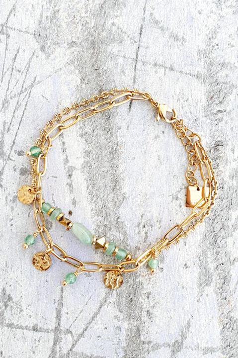 Bracelet Duo - Gold Aventurine - N.5