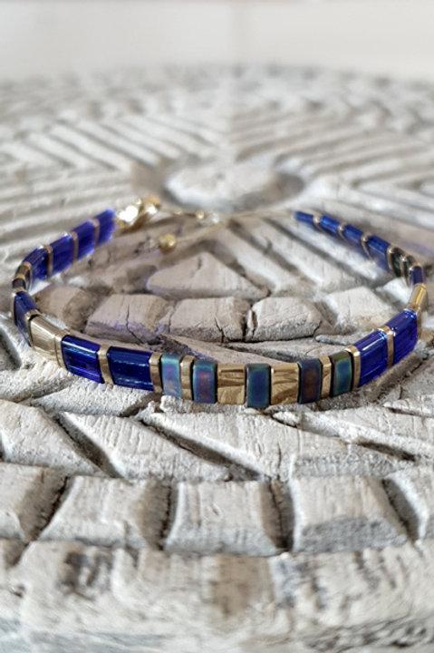 Bracelet Perles de Verre Japonaises - N8