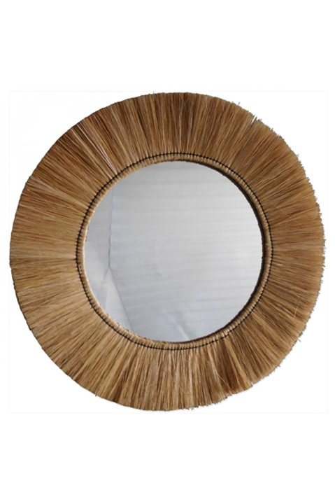 Grand Miroir Franges Naturelles