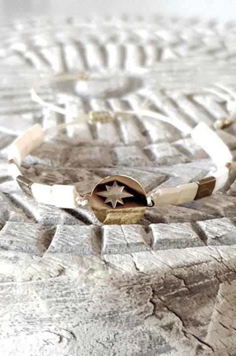 Bracelet Perles de Verre Japonaises - Nude Médaille
