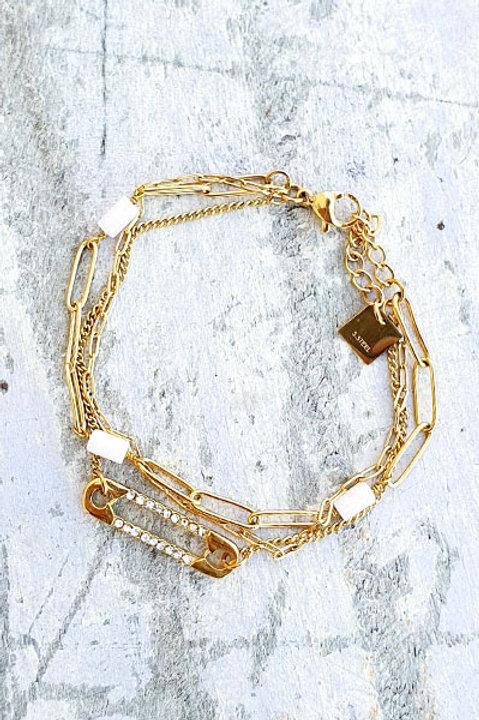 Bracelet Multi - Trombone - White