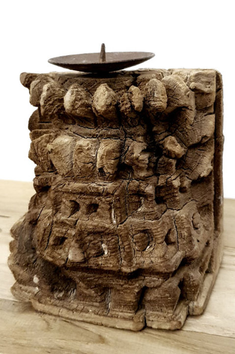 Mini Base Bougeoir Sculpté N.15
