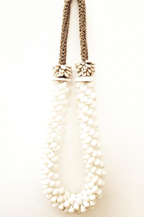 Collier Coquillage Blanc XL