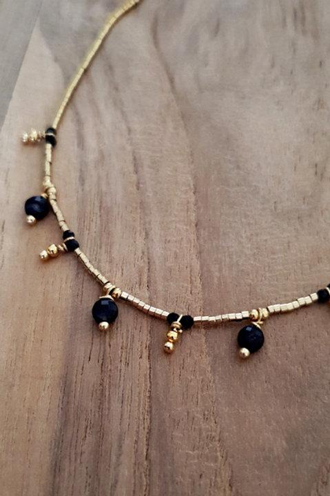 Collier Ras de Cou Summer N.2 - Perles Black Gold