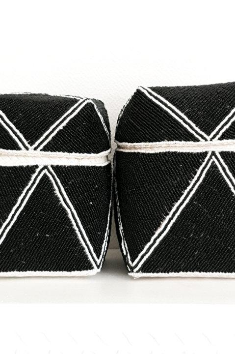 Boite Perles - Black White - M