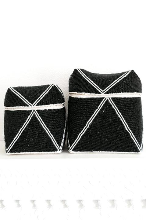 Boite Perles - Black White - XL