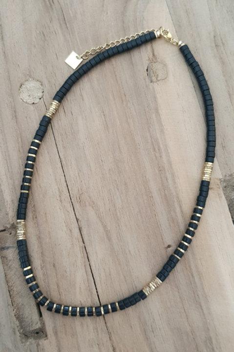 Collier Perles de Pierres Naturelles - Onyx