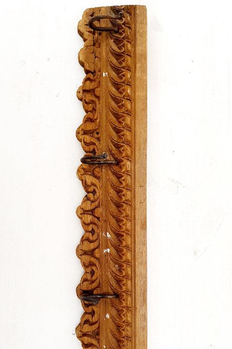 Patère Sculpté Indienne N.20 - Bois Ancien