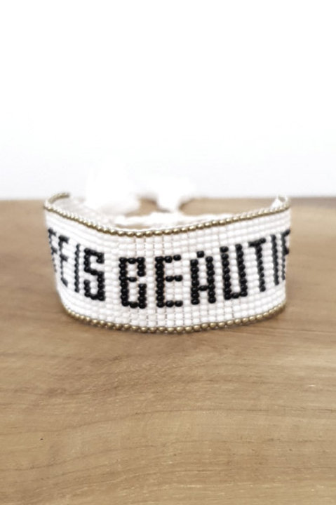 Bracelet Perles - Life Is Beautiful