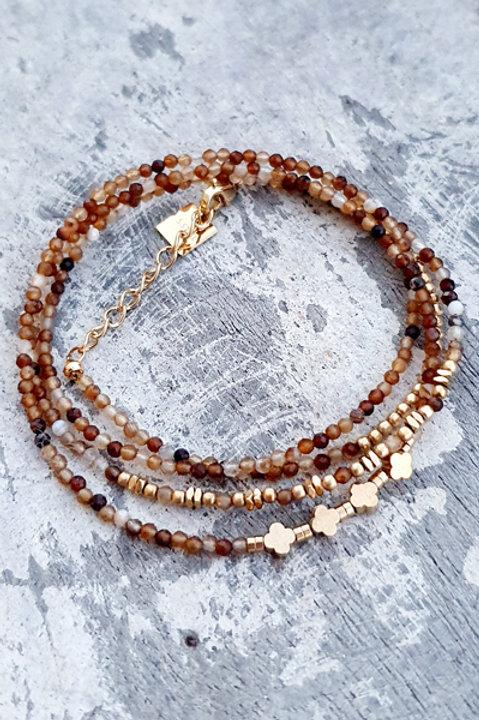 Bracelet Multi Tour - Agate - N.1