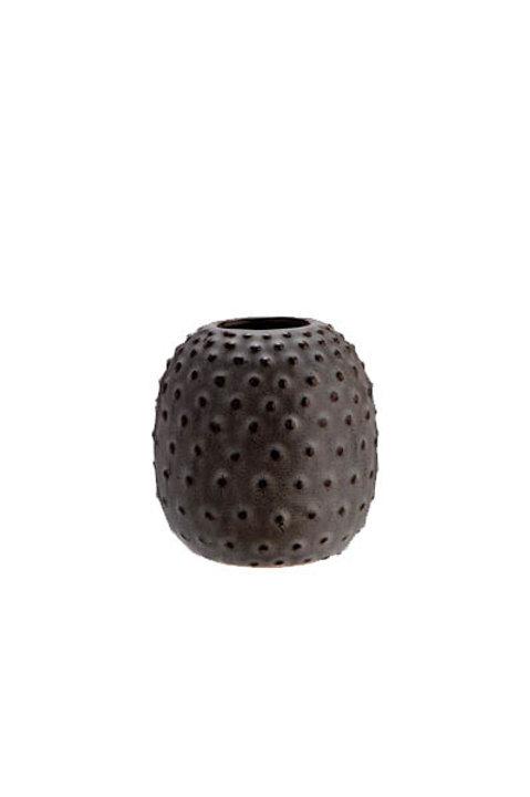 Vase Dots Céramique Grey - PM