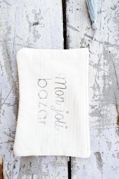 Pochette Mon Joli Bazar - Blanc