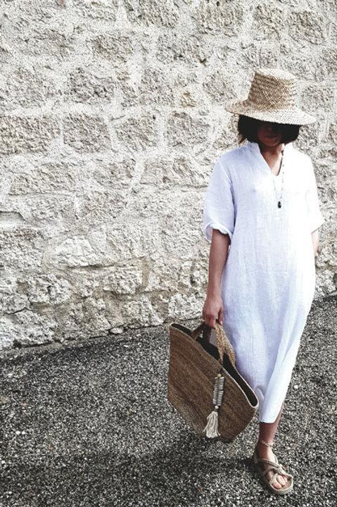 Robe Longue Sahara Lin Blanc