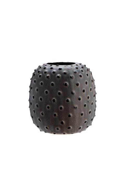 Vase Dots Céramique Grey - GM