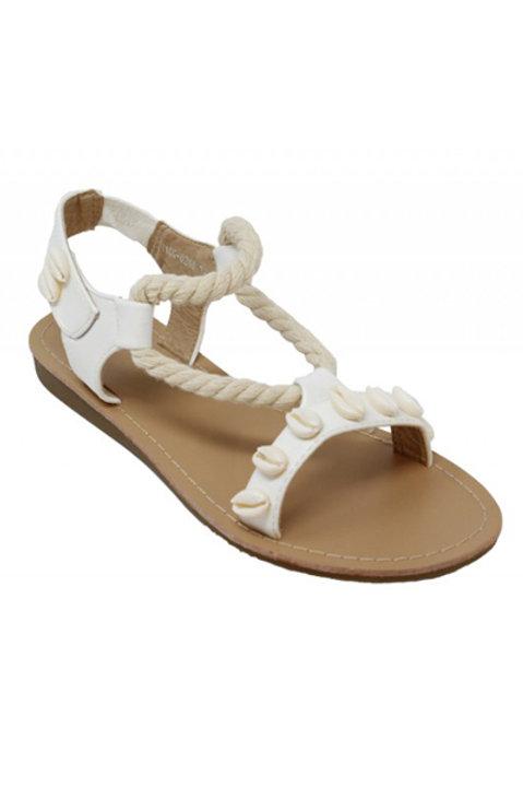 Sandales Corde - Cauris - Blanc