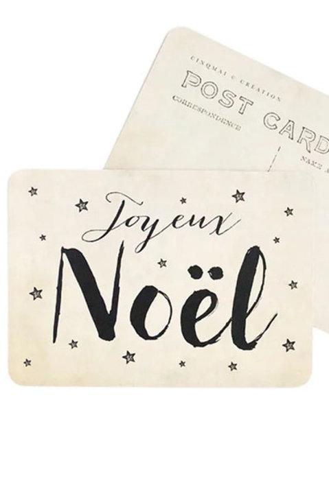 Carte Postale - Joyeux Noel - Vintage Paper