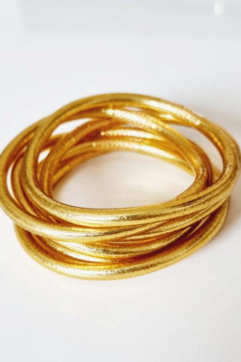 Jonc Bouddhiste - Epais - Light Gold