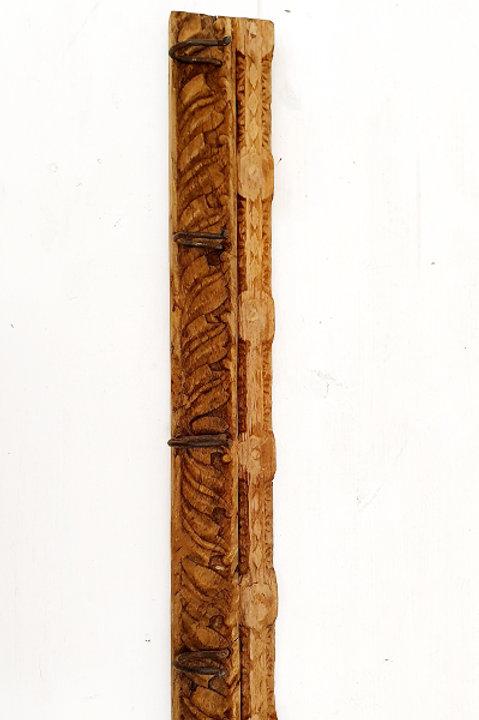 Patère Sculpté Indienne N.10 - Bois Ancien